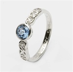 Ladies Birthstone Silver Celtic Ring LS-SL94-12