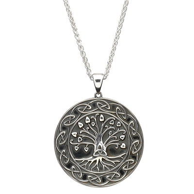 Sterling Silver Tree of Life Pendant with Chain SP2106