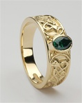 Gold mens celtic rings
