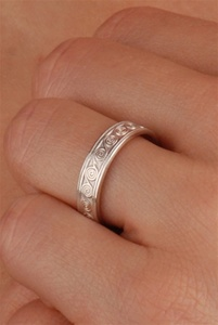 Celtic Wedding Rings WED113 ZOOM
