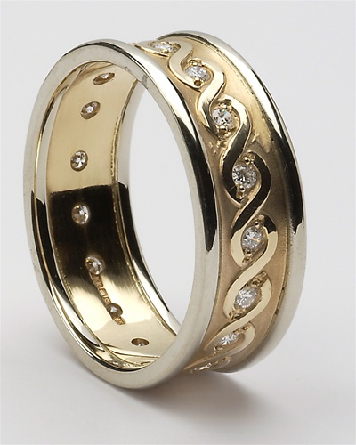 mens diamond celtic wedding rings mg wed76. Black Bedroom Furniture Sets. Home Design Ideas