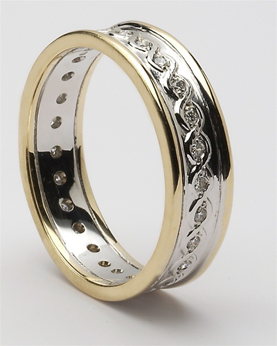Mens Celtic Continuity Diamond Wedding Rings MG WED78