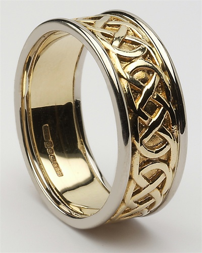 mens celtic closed knot wedding rings mg wed86. Black Bedroom Furniture Sets. Home Design Ideas