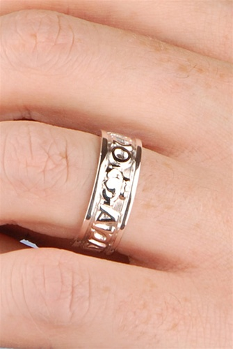 free shipping - Mens Claddagh Wedding Ring