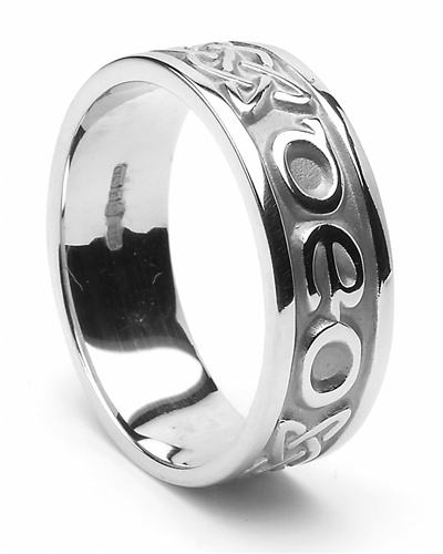 silver mens celtic wedding rings - Irish Wedding Ring