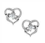 Silver Claddagh Earrings LS-BE5