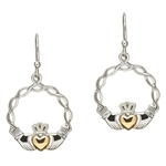Silver Claddagh Earrings SE2046