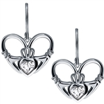 Silver Claddagh Earrings UES-6162