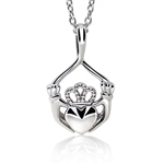 Silver Claddagh Pendant UPS-6164