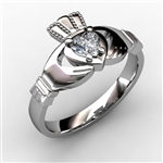 Claddagh Ring WHITE-ASU2-25