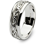 Mens Sterling Silver Celtic Wedding Ring SM-SD11