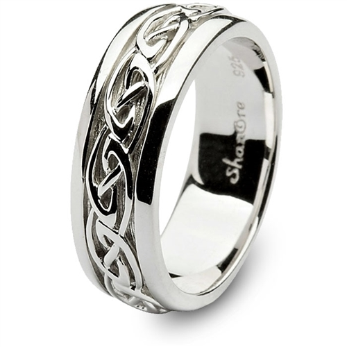 mens sterling silver celtic wedding ring sm sd11. Black Bedroom Furniture Sets. Home Design Ideas