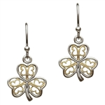 Silver Shamrock Earrings SE-2052