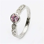 Ladies Birthstone Silver Celtic Ring LS-SL94-10
