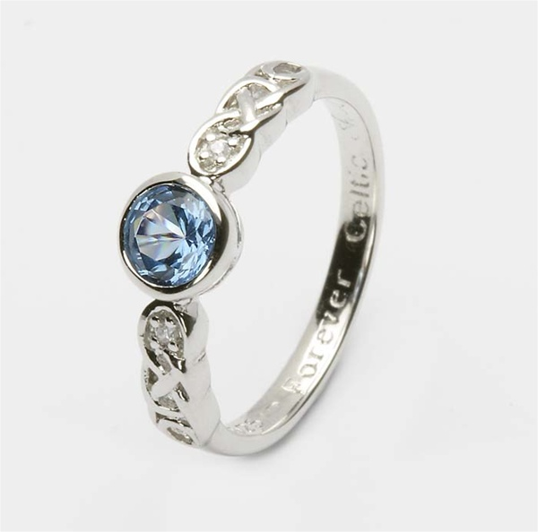 s ring addiction birthstone wedding rings zircon stackable december eve blue