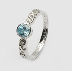 Ladies Birthstone Silver Celtic Ring LS-SL94-3