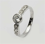 Ladies Birthstone Silver Celtic Ring LS-SL94-4