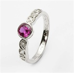 Ladies Birthstone Silver Celtic Ring LS-SL94-7