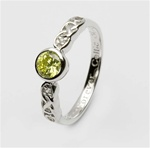 Ladies Birthstone Silver Celtic Ring LS-SL94-8