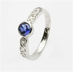 Ladies Birthstone Silver Celtic Ring LS-SL94-9