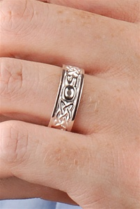Celtic Wedding Rings WED234 ZOOM