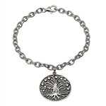 Sterling Silver Tree of Life Bracelet SB2107