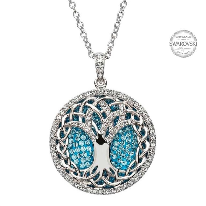 Silver tree of life pendant swarovski sw36 for What is the meaning of the tree of life jewelry