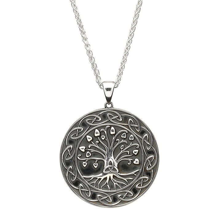 Silver tree of life pendant with chain sp2106 sterling silver tree of life pendant with chain sp2106 mozeypictures Gallery