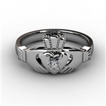 Claddagh Ring WHITE-ASU2-10