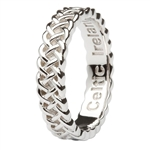 silver women's celtic wedding rings