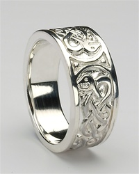 silver mens celtic rings