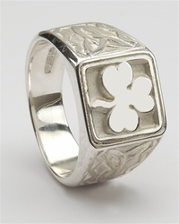 Silver Unisex Shamrock Celtic Rings
