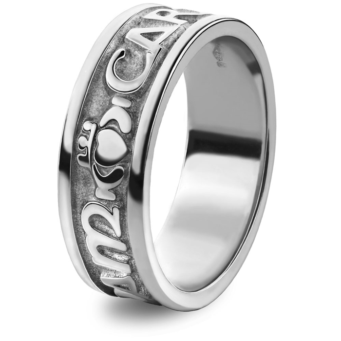 sterling silver wedding rings - Claddagh Wedding Rings