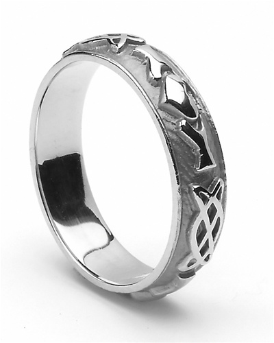 Ladies Celtic Wedding Rings LSWED243