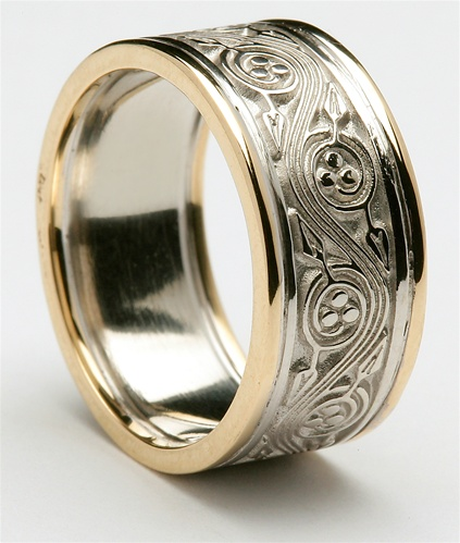 Beau Mens Celtic Wedding Rings MG WED309