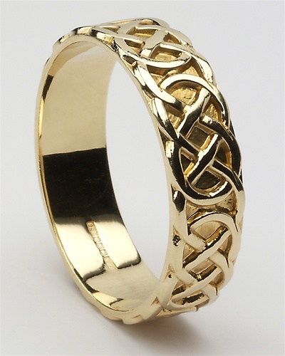 mens celtic closed knot wedding rings mg wed84