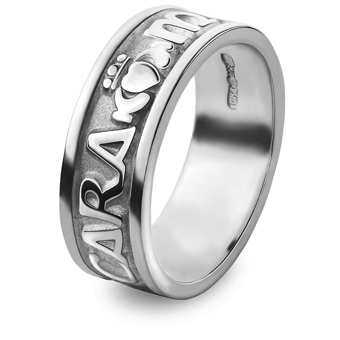 silver mens celtic wedding rings - Claddagh Wedding Ring