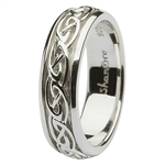 silver ladies celtic wedding rings