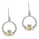 Silver Claddagh Earrings SE2040
