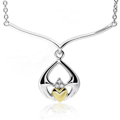 Silver Claddagh Pendant UPS-6170