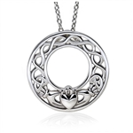 Silver Claddagh Pendant UPS-6158