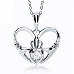 Silver Claddagh Pendant UPS-UPS-6161