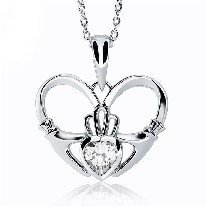 Sterling silver claddagh pendant ups 6161 aloadofball Image collections