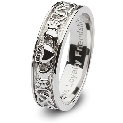 Ladies Sterling Silver Claddagh Wedding Ring SL-SD8