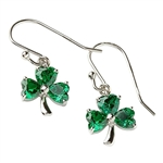 Silver Shamrock Earrings SP2006