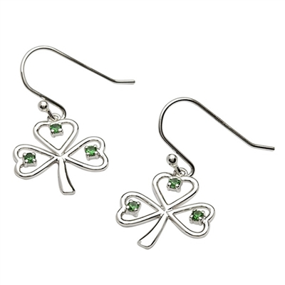 Silver Shamrock Earrings SP2014